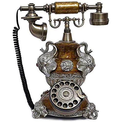 JDJFDKSFH Teléfono Antiguo, Vintage Antiguo Dial Rotary, Metal Landline Home Bienvenido