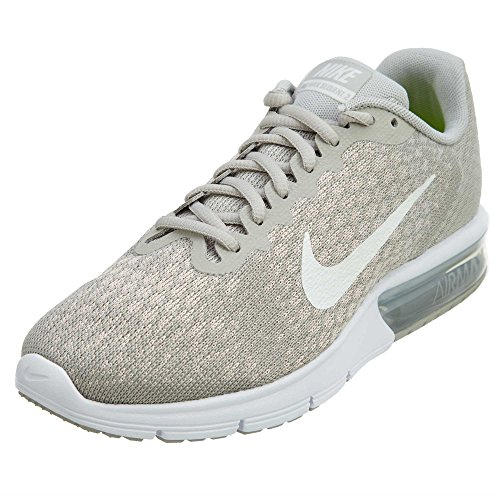 NIKE Women's Air Max Sequent Running Shoes Pale Grey/Sail-Light Bone Size 8