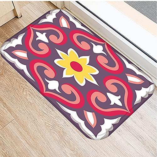 Alfombrilla geométrica para cocina, alfombrilla antideslizante, alfombrilla para el suelo del dormitorio, alfombra para sala de estar, felpudo, alfombras de cocina, alfombrilla lavable A7 40x60cm