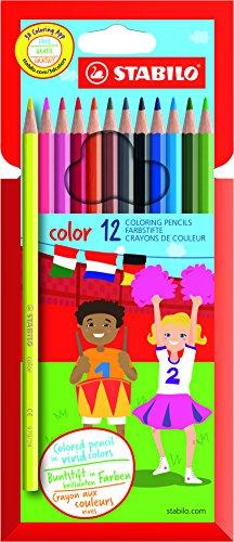 STABILO color matite colorate colori assortiti - Astuccio da 12