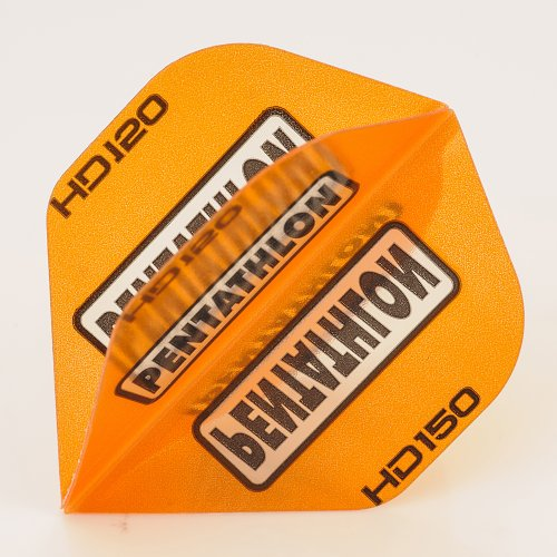 5 x Sets of Pentathlon Orange Super Tough HD150 Dart Flights, Standard