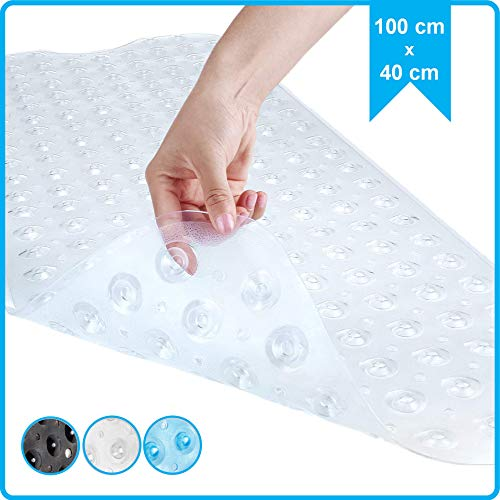 SilverRack Antirutschmatte Badewanne 100x40cm - Premium Badewannenmatte für sicheres Baden und Duschen - BPA & latexfreie Badematte für Kinder für einen besseren Halt in der Wanne
