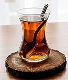 "Topkapi - Juego de 6 vasos de té turcos ""Filiz"" ~ 111 cc, transparente"