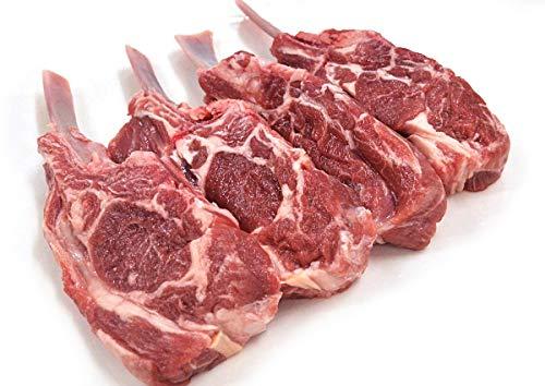 グルメソムリエ ラム肉 ロース ニュージーランド産 骨付き 羊肉 仔羊 赤身 (ラムショルダーラック×1パック)