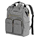 Laptop Backpack for Women, Lightweight Womens Travel Backpack, grey, Size 18.0