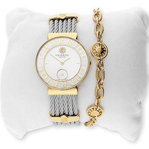 Charriol Damenarmbanduhr ST30YC.560.012 St. Tropez Edelstahl Bicolor goldplattiert