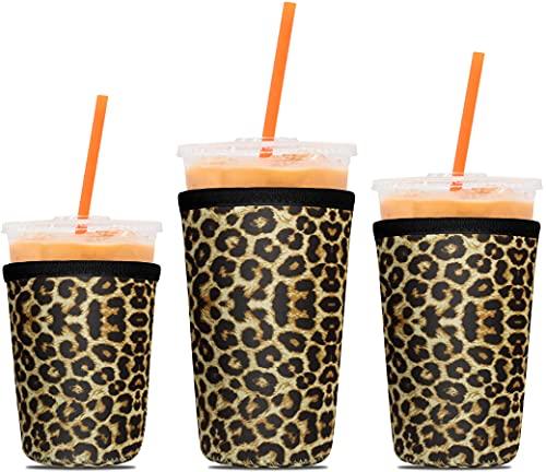 3 Pack Reusable Coffee Sleeves - Tall/Grande, Venti, Trenta - P.LOTOR Soft Cups - Iced Coffee Cozy Insulator - Neoprene Holder for Dunkin Donuts Coffee, McDonalds Coffee, Mccafe Coffee, Starbucks I