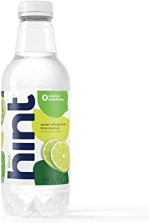 Hint Water Lime, (Pack of 12) 16 Ounce Bottles, Pure Water Infused with Lime, Zero Sugar, Zero Calories, Zero Sweeteners, Zero Preservatives, Zero Artificial Flavors, Zero Artificial Sweeteners