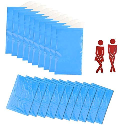 FOGAWA 10 Stück Tragbar Urinbeutel Reise Urinal Einweg Urinbeutel für Unterwegs Notfall Urinieren Taschen mit 10 Müllbeuteln für Camping Auto Kinder Frauen Männer