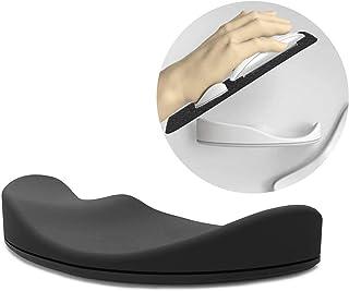 マウスパッド 手首 シリコン 人間工学的 ハンドピロー オフィス コンピューター 用マウスパット リストレストノートパソコン 丈夫 快適 痛み緩和 [ブラック]