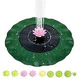 MMTX Solare Fontana Pompa, 1W Pompa Acqua Solare Fontana da Giardino con 9 Ugelli, Fontana Solare per Bagno, Uccelli,Acquario,Stagno o Decorazione del Giardino