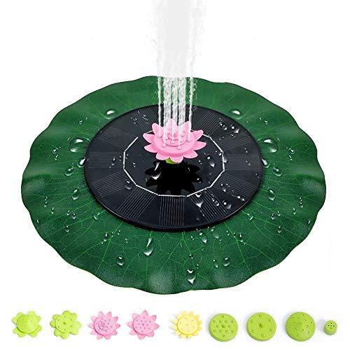 MMTX Solar Springbrunnen 2021 Upgrade, Solar Teichpumpe mit 9 Effekte Solar Wasserpumpe Solar schwimmender Fontäne Pumpe für Garten, Kleiner teich, Vogelbad, Fisch-Behälter, Pool