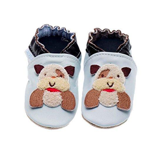 Jack & Lly , Chaussures Souple pour bébé (garçon) - Bleu - Bleu, 20/21 EU