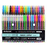 OFIXO 48 Colors Gel Pens Set, Glitter Gel Pen for Adult Coloring Books Journals Drawing Doodling Art Markers