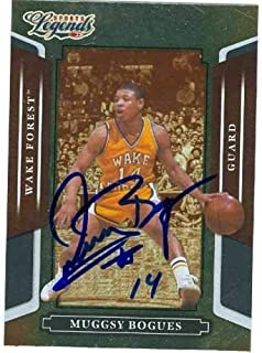 Tyrone Muggsy Bogues autographed Basketball Card (Wake Forrest) 2008 Donruss Legends #112 - Autographed Basketball Cards