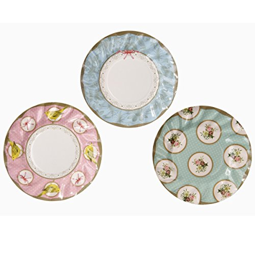 Talking Tables Frills & Frosting Disposable Plates, 12 count, for a...