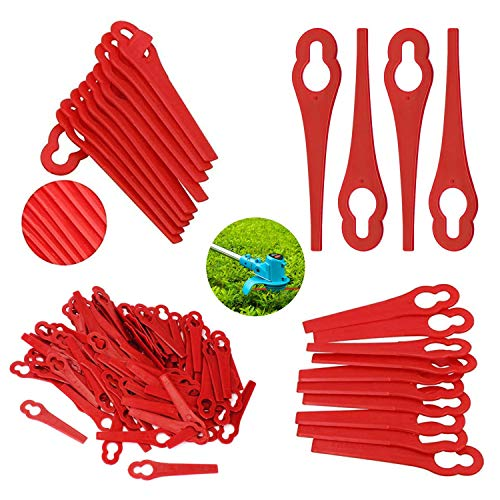 20pcs Plastic Blades Grass Trimmers, Lawn Mower Blades, Replacement Plastic...