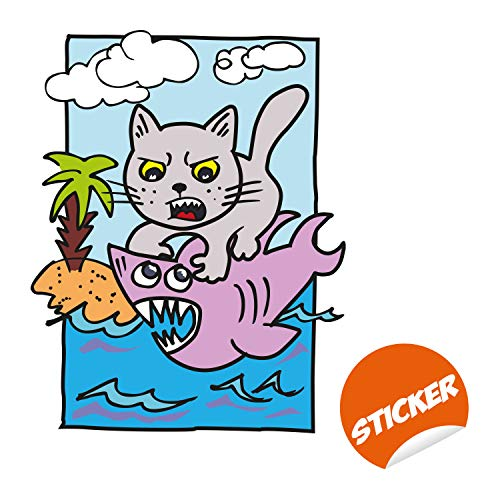 CUTE CAT STICKERS Kitty Animal Puffy Raised Vinyl Sticker Sheet Craft Kawaii NEW