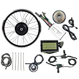 ZYXU Kit De Conversión De Bicicleta Eléctrica De 24 V 250 W, Kit De Conversión De Bicicleta Eléctrica, Motor Sin Escobillas, Rueda De Motor, Kit De Bicicleta Eléctrica con Pantalla LCD3,16inch