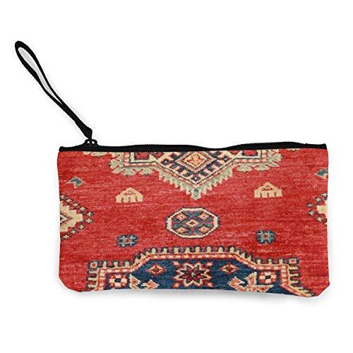 Architd Kosmetiktasche für Münzen, mit Reißverschluss, für Damen, Mädchen, natürlich, gefärbt, handgefertigt, anatolischer Teppich