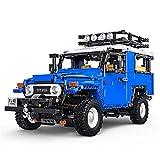 Tecnología bloques de construcción vehículo todoterreno para Land Cruiser J40, 2101 bloques de sujeción tecnología 2.4GHz off-roader con motores