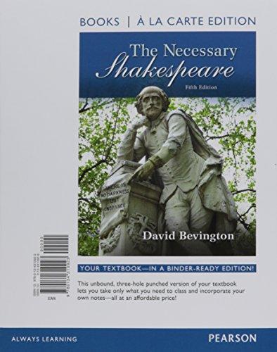 Necessary Shakespeare, The -- Books a la Carte (5th Edition)