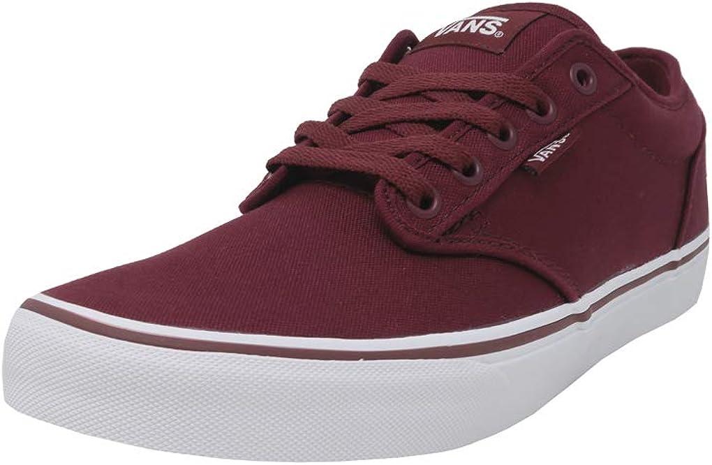 Vans Men's Shoes Atwood Canvas Burgundy Windsor Wine/White Skate Sneakers