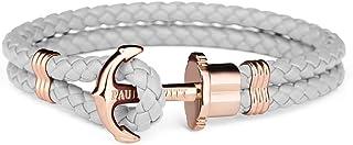 PAUL HEWITT Bracelet Femme PHREP Ancre - Cadeau Femme, Bracelet Cuir Femme Style Cordage avec Fermoir Ancre en INOX plaqué...