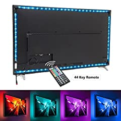 MORE COLOR FUNCTIONS: This TV light strip comes With IR 44key controller for 20 color changing and 8 lighting modes, flash regulation, brightness/speed control. Customize your favorite color with 6 DIY buttons to set the mood and romantic atmosphere....