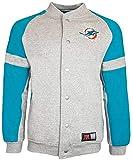 Majestic Miami Dolphins NFL Jeiter - Chaqueta de forro polar, Hombre, gris, xx-large