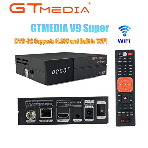 GTMEDIA V9 Super Satellite Receiver DVB-S2 Full HD 1080P Support H.265 PowerVu DRE & Biss Key Built-in WiFi