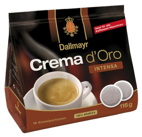 Dallmayr Crema d'oro Intensa Pads 116g - 10er Karton (10 x 16 Pads)