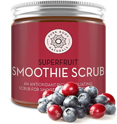 Superfruit Smoothie Scrub, 8.8 fl oz by Pure Body Naturals | Antioxidant-Rich Exfoliating Scrub for Smooth, Rejuvenated Skin