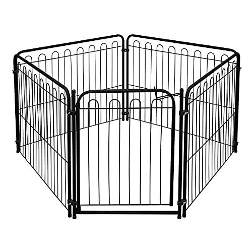Cercado Pet 4 Modulos Delimitadores + Portão p/Cães Pequenos/Médios - Açomix Cor:Preto