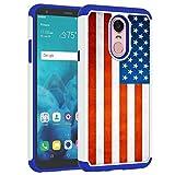 Sunshine-Tech Schutzhülle für LG Stylo 4 2018 / LG Q Stylus – Amerikanische Flagge, Patriotisches Flaggenmuster, stoßdämpfend, harter PC & innere Silikon-Hybrid-Hybrid-Hülle