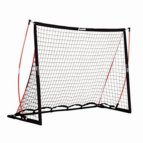 Franklin Flexibles Fußballtor - Ultra-flexibles Outdoor-Tor zum Fußballspielen I schnelles Zusammenbauen I Sport & Freizeit I wetterfestes Netz I stabiles Indoor-Fußballtor I Schwarz - 1,80 x 1,20m