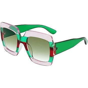 Square-Frame Designer Inspired Oversize Sunglasses for Women Brand Designer Shades