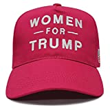 Lysti Donald Trump Make America Great Again Hat Women for Trump Slogan with USA American Flag Adjustable Baseball Cap (Hot Pink)