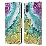 Head Case Designs Licenza Ufficiale Monika Strigel Oro Rosa Ametista Cover in Pelle a Portafoglio Compatibile con Apple iPhone X/iPhone XS