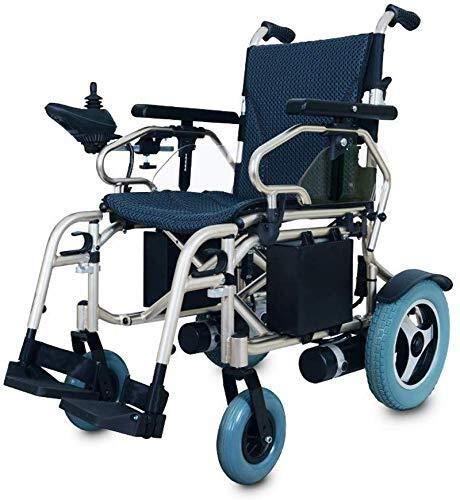 XUSHEN-HU Sillas de ruedas eléctrica plegable luz plegable hombre viejo scooter completo discapacitados ancianos de cuatro ruedas automático inteligente, negro, la espalda no es ajustable ligero