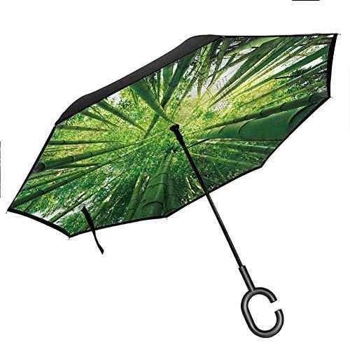 Fireman Car Reverse Umbrella Fire Station Extinguisher Auto Open and Close Travel Umbrella Windproof UV Protection Umbrella, 42.5'x31.5'Inch