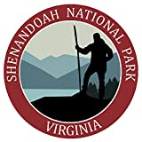 Shenandoah National Park, Virginia Decorative Car Truck Window Sticker Decal Vinyl Die-Cut Badge Emblem Vacation Souvenir Travel Gear