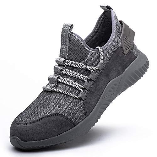 Lyoridra Sicherheitsschuhe Herren Arbeitsschuhe Damen S3 Leicht Stahlkappe Schuhe Atmungsaktiv Sportlich Schutzschuhe