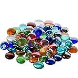 intvn ciottoli di vetro per decorazione acquario 300g rotonde decorazione colorata adatto, piccoli ciottoli di vetro colori multipli 20 * 20 * 7mm