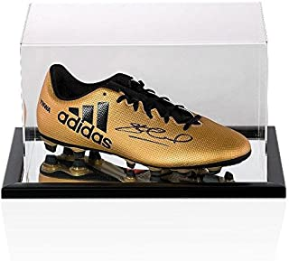 2657056d7e6a Steven Gerrard Signed Football Boot Adidas Gold YNWA - In Acrylic Display  Case - Autographed Soccer