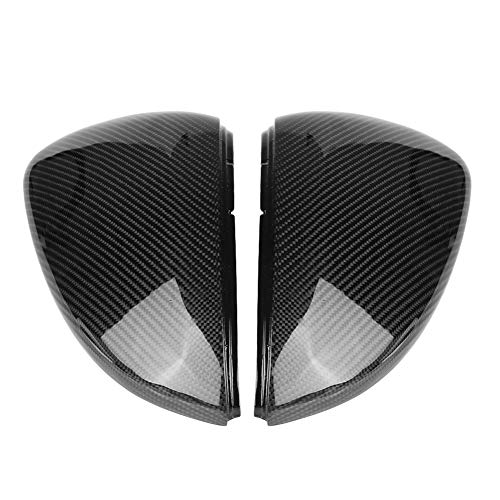 Dibiao 1 par de Accesorios de Reemplazo de Modificación Exterior Duraderos de Fibra de Carbono para Espejo Retrovisor para Golf Mk7. 5 7 GTI R 2013-2018