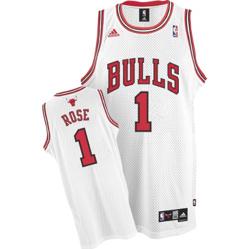 adidas Chicago Bulls #1 Derrick Rose White Swingman Basketball Jersey (XXX-Large)