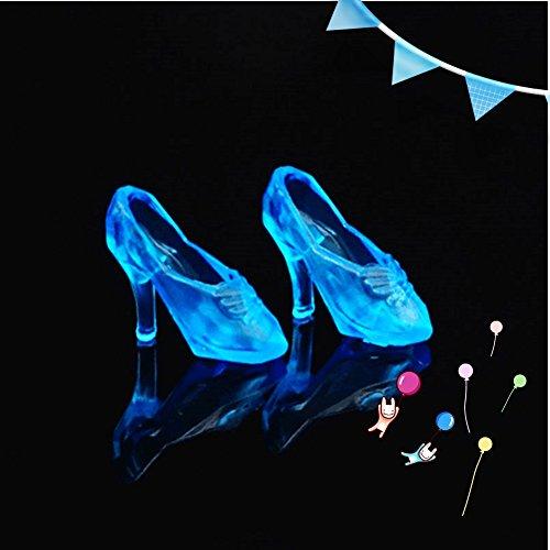 Eleganantstunning 12 Paar Fashion Cute Prinzessin High Heels Pumps Fairy Tales Schuhe für Barbie Puppen blau