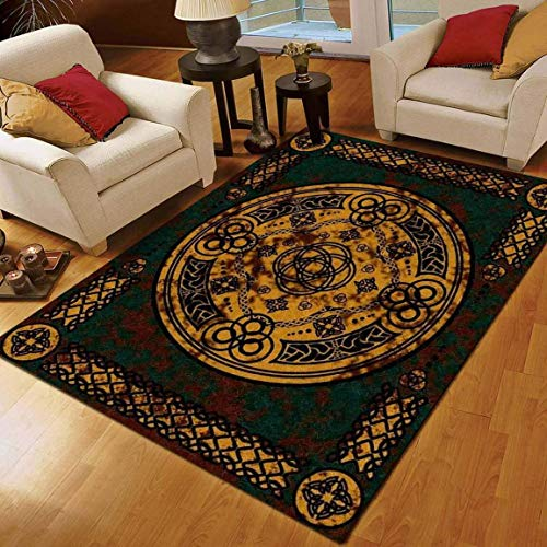 Celtic Rug Carpet, Awesome Gift for Friends Non Slip Play Area Rug Runner Rug for Hallway Bedroom Bathroom Outdoor Dining Living Room Rugs Washable 2x3 3x5 4x6 5x8 Area Rug