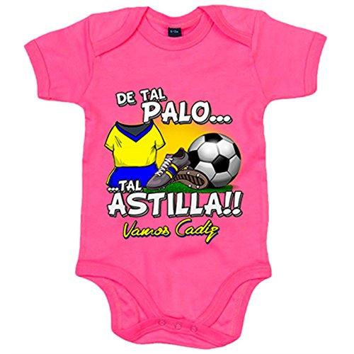 Body bebé De tal palo tal astilla Cádiz fútbol - Rosa, 12-18 meses